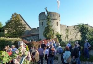 Der Nordwestturm der Fleckenmauer in Flörsheim-Dalsheim